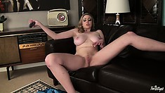 Big-tittied slut is obsessed with the big sizes and crazy banging