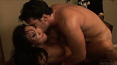 Asian masseuse with a petite and fit body gets wrecked balls deep