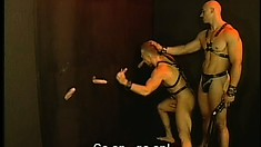 Muscular guys suck and fuck each other in a hot dungeon foursome