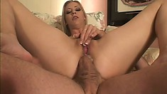 Leah Luv is a sexy slender blonde with a passion for rough anal sex