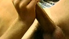 Blond dude puts on a solo masturbation show for his webcam fans