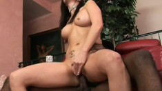 His chocolate noodle delivers deep thrusts to her sweet MILF snatch
