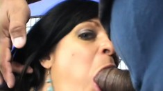 Nasty mature woman welcomes her man's hard stick up her tight ass
