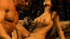 Shy Love gets her world rocked by her partner's massive cock