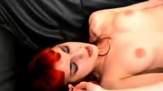Sweet Emo Teen In White Stockings Has Sex With A Stranger On The Couch