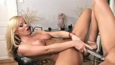 Eufrat and Silvia fuck each other's fiery pussies with a glass dildo