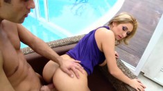 Big Breasted Blonde Cougar Loves To Suck Cock And To Get Pounded Hard