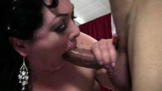 Curvaceous mature Alexis Couture surrenders her pussy to a long dick