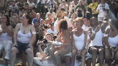 Crazy Pack Of Wild Girls Have A Great Time At A Hot Naked Party