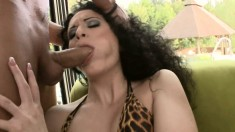 Insatiable girl with amazing tits has a fiery ass ready for hard meat