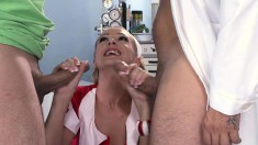 Slender blonde likes to have her tight asshole stretched out