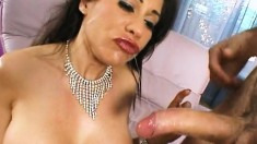 Curvaceous milf Sheila Marie has a hung dude punishing her anal hole