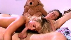 Stacked college beauty seduces a hung stud to satisfy her sexual needs