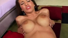 Hot Kelly Divine has a dark stud plowing her snatch in every position