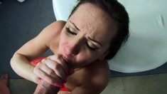 Irresistible brunette Katie St Ives takes a heavy drilling POV style
