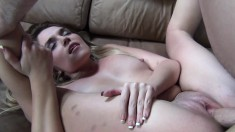 Casey Stone delivers a sensual blowjob and enjoys an intense pounding