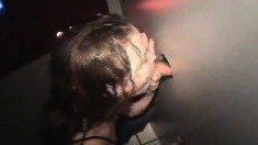 Lovely Young Chick Cathy Makes The Most Of Her Time At The Gloryhole