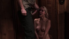 Blonde Cadence Lux Eats Meat And Gets Drilled In A Neat Cabin