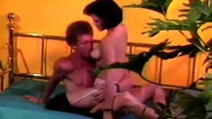 Busty milf in vintage getting nailed