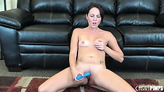 Ashley sits on the floor and gets told what to do, then toys again