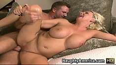 JoAnna Storm's big tits bounce as she is being fucked from behind