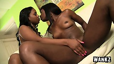 Black beauties Laylani and Ana relish the sweet taste of each other's wet peaches
