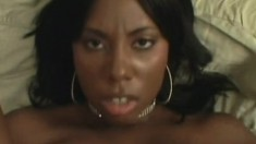 Big breasted black hottie gets banged in a hardcore POV video
