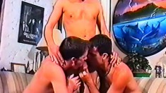 Young Twink Engages In Anal Sex With Two Experienced Gay Studs