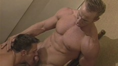 Tough looking strongmen enjoy their anal sex really deep and hard
