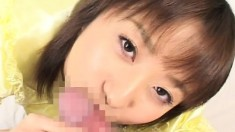 Enticing Japanese babes getting their pretty faces covered with jizz