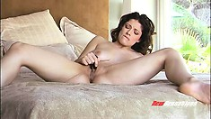 Jean Jacobs Spreads Her Amazing Body Across The Bed And Masturbates