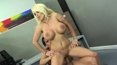 Holly Halston has some big hooters and gets her twat heavily humped