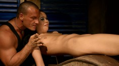 Sexy slender Nilla makes the most of her time with her lustful master