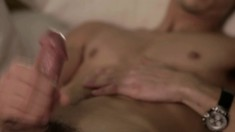 Young stud Cooper Adams is eager to play with his thick piston