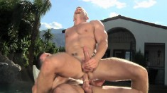 Sexy stud loves to ride a long prick and to take it deep doggy style