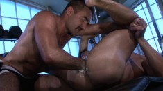 Naughty Guys Bring Their Fisting Fetish Fantasy To Reality In The Gym
