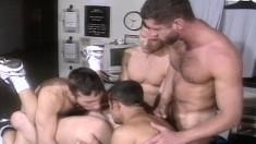 Horny Guys Marcus Iron, Karl Tenner, Nicholas Clay, Fernando Montana And Blake Harper Fuck Like Crazy