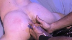 Uninhibited guy gets into some ass-driling fun with another hunk