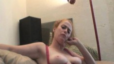 Buxom blonde hooker shares her favorite stories and gives a blowjob