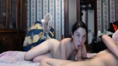 Amateur blowjob and anal games