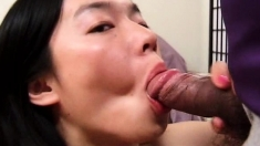 Gangbang amateur sexy Asian MILF cunt nailed doggy style