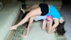 Cute girls attempting yoga !