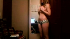 Stripping In Her Room