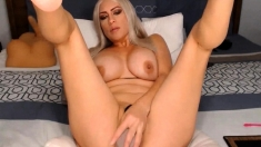 Sexy MILF fucking her gorgeous pussy with her toys