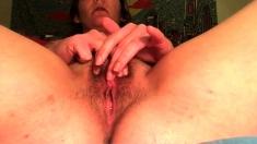 Mature Bigtit Hairy Masturbation