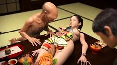 Hot fuck scene with 3d hentai beauty