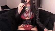 Jennifer Dark Solo Bikini Striptease